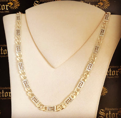 Nate two tone chain MC - Bijouterie Setor
