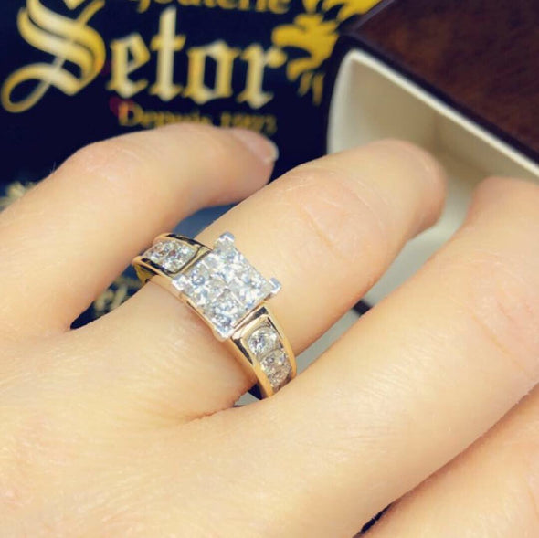 Angela princess diamond ring DER-101 - Bijouterie Setor