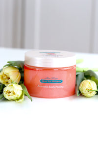 Aromatisk peeling Rose m/salt (Aromatic body peeling Rose Hip & Roses Flowers), DSM98