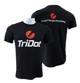 TriDot Black Performance Tee (unisex sizing)