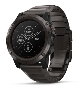 Garmin Fenix 5X Plus (Titanium Pulse Ox Acclimation)