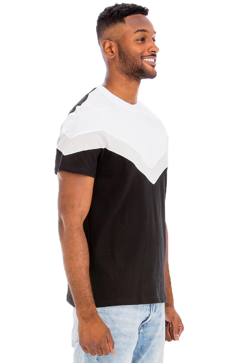 Modern Black/White Block Tee