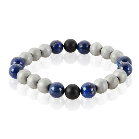 Natural Stone Polished Bead Bracelet