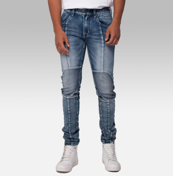 Flex III Denim Jeans- Moto Dark
