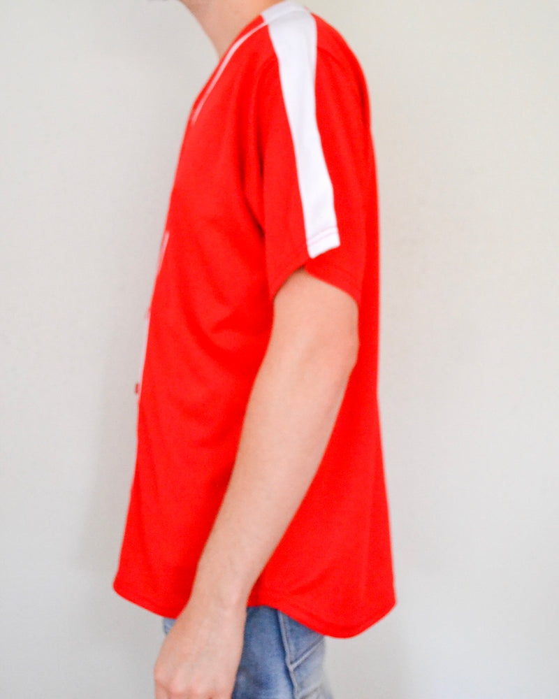 Solid Baseball Jersey - Red/White