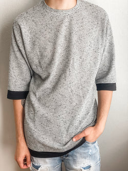 Duplicate Three Quarter Top - Gray