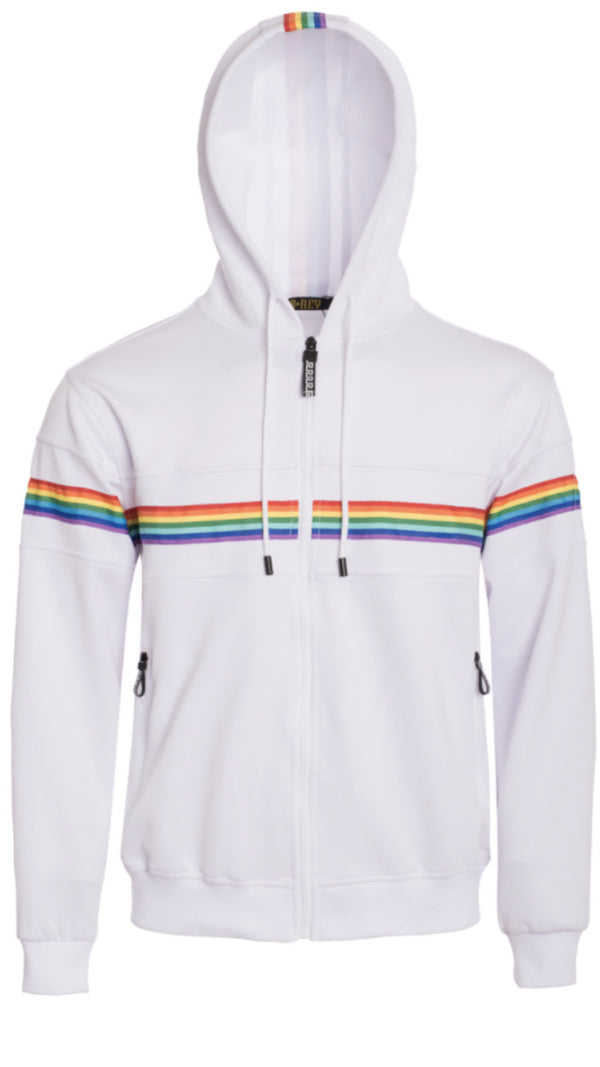 Pride Rainbow Stripe Sweatshirt