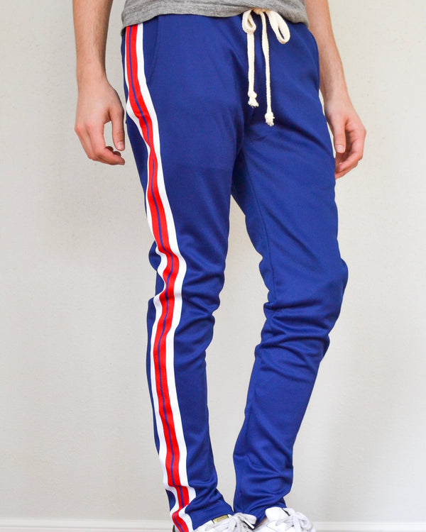 Striped Elastic Jogger- Blue