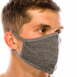 Cotton Face Mask: Solid Charcoal Gray