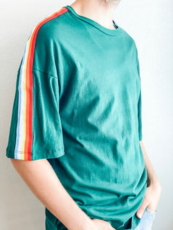 Green Rainbow Crew Neck Tee