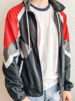 Nylon Jacket- Red/Black/Gray