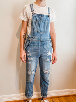 Denim Medium Wash Overalls
