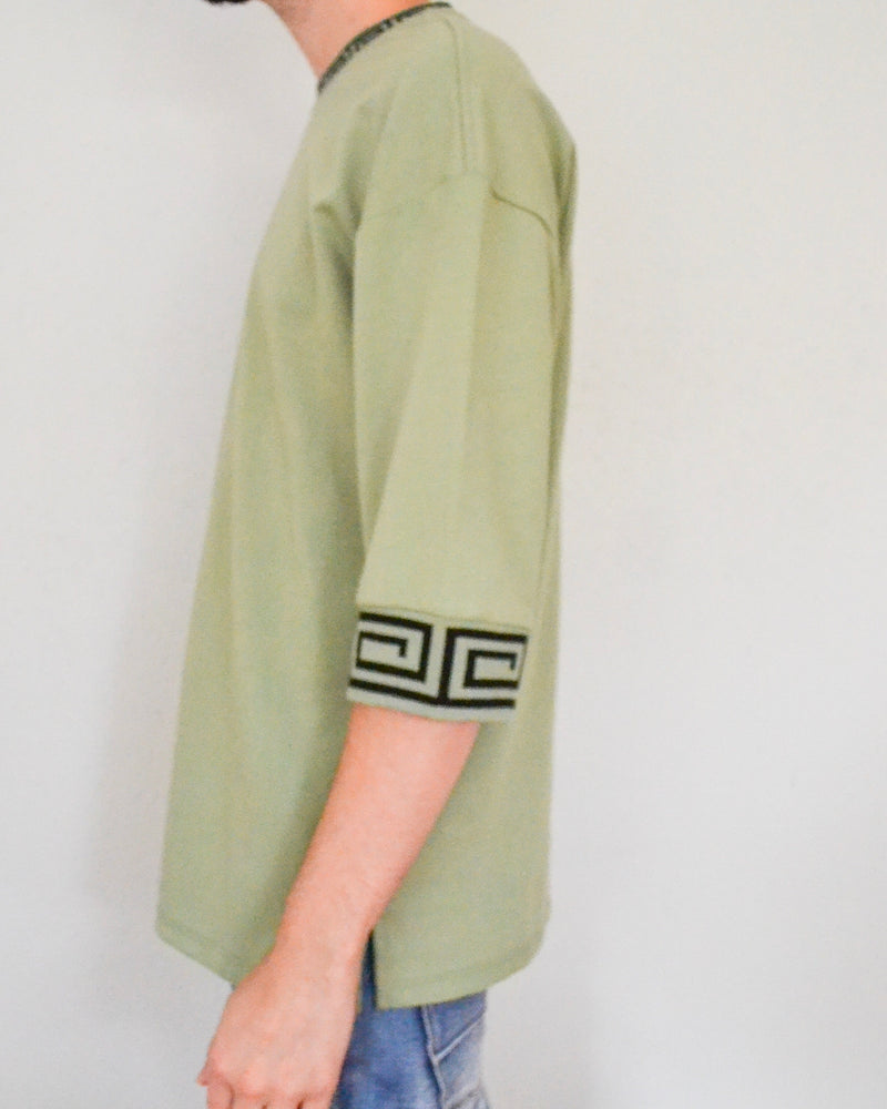 Wasabi Drop Shoulder Top
