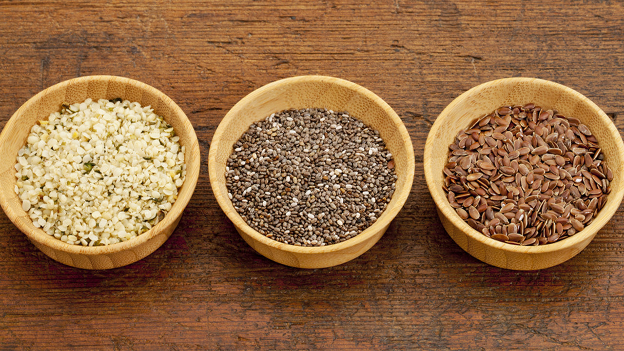 Chia, flax and hemp seeds are high in protein