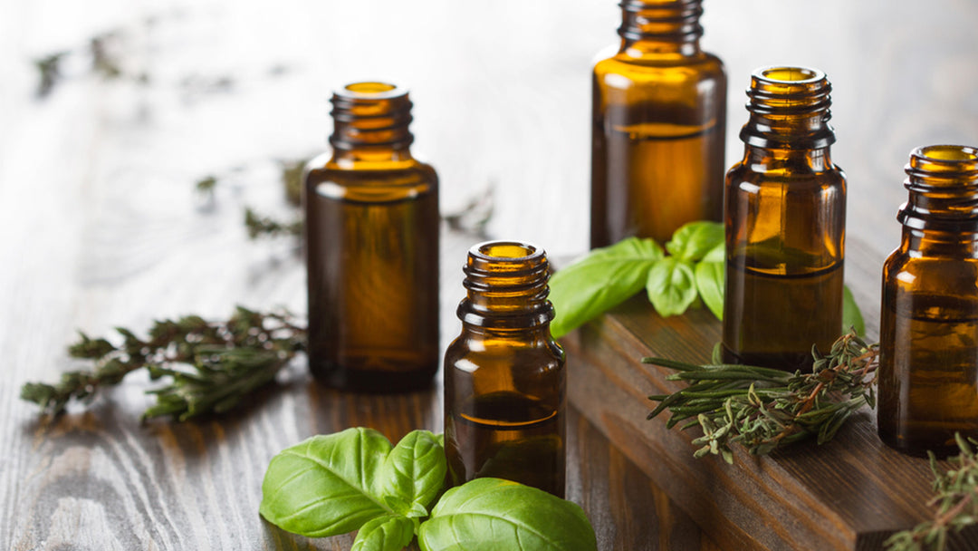 3 bottles of essential oils