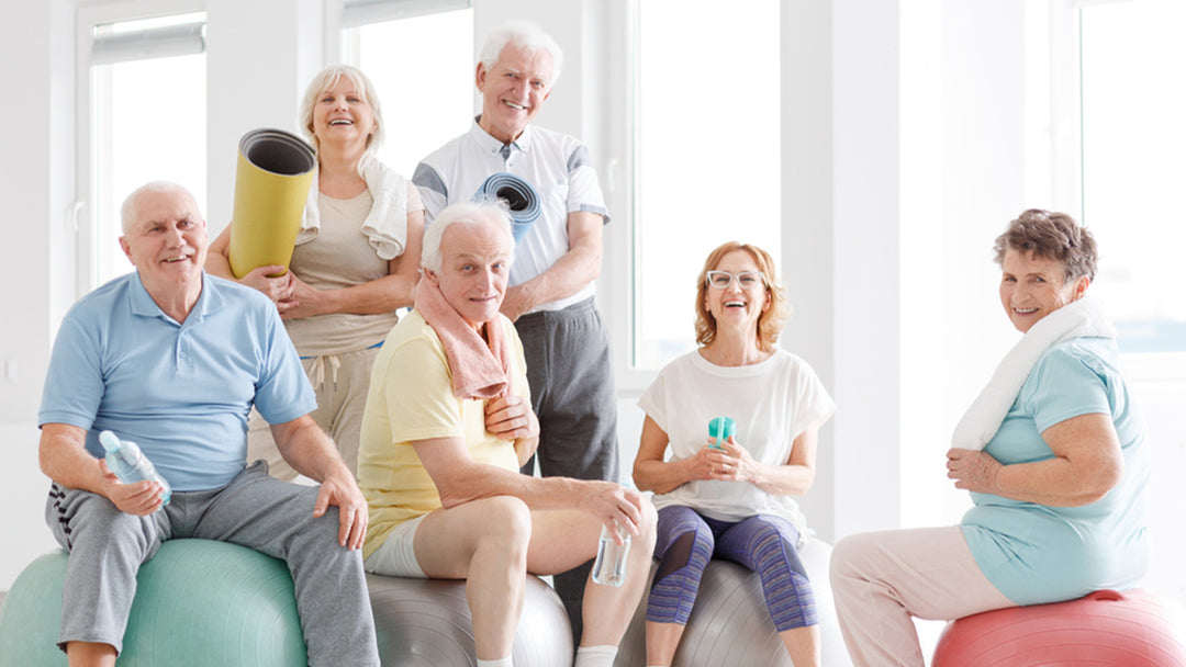 Older adults staying fit