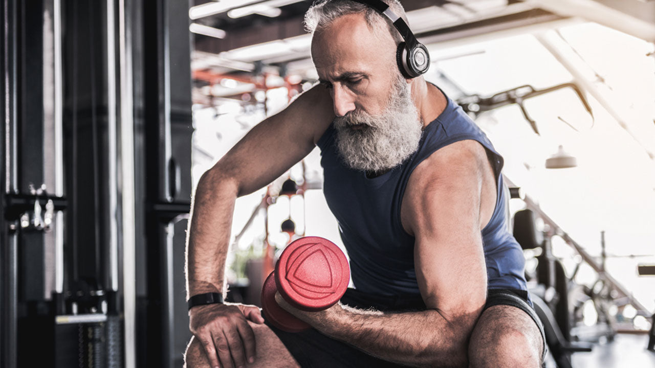 Sarcopenia is an umbrella term for general loss of muscle with aging.