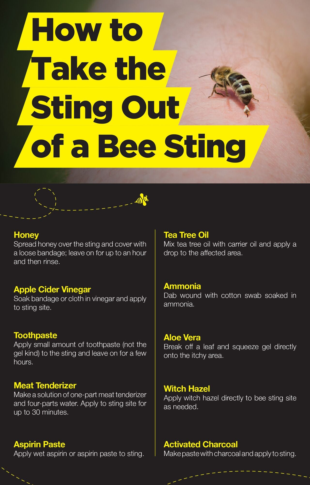 How to take the sting out of a bee sting