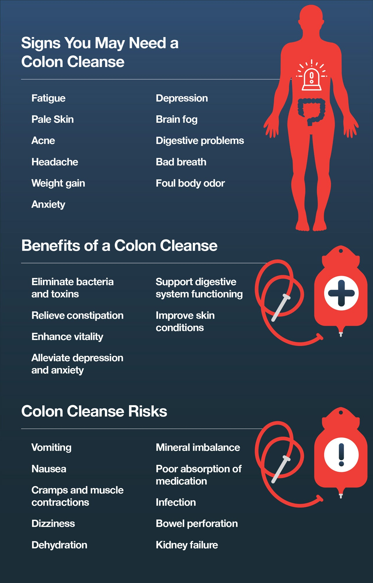 Here are some signs that you may need a colon cleanse and the benefits of getting one.