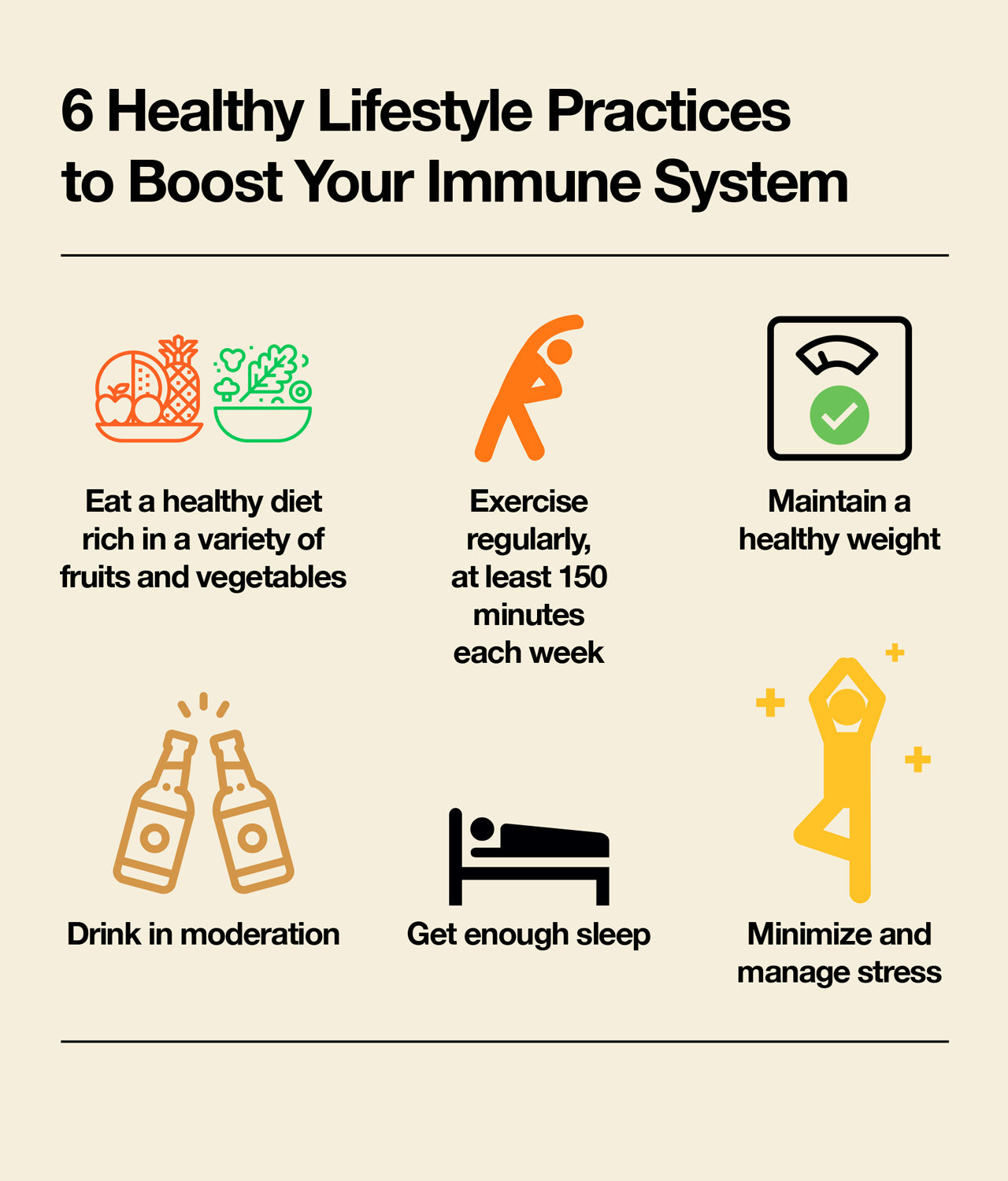 Lifestyle practices to boost immune system
