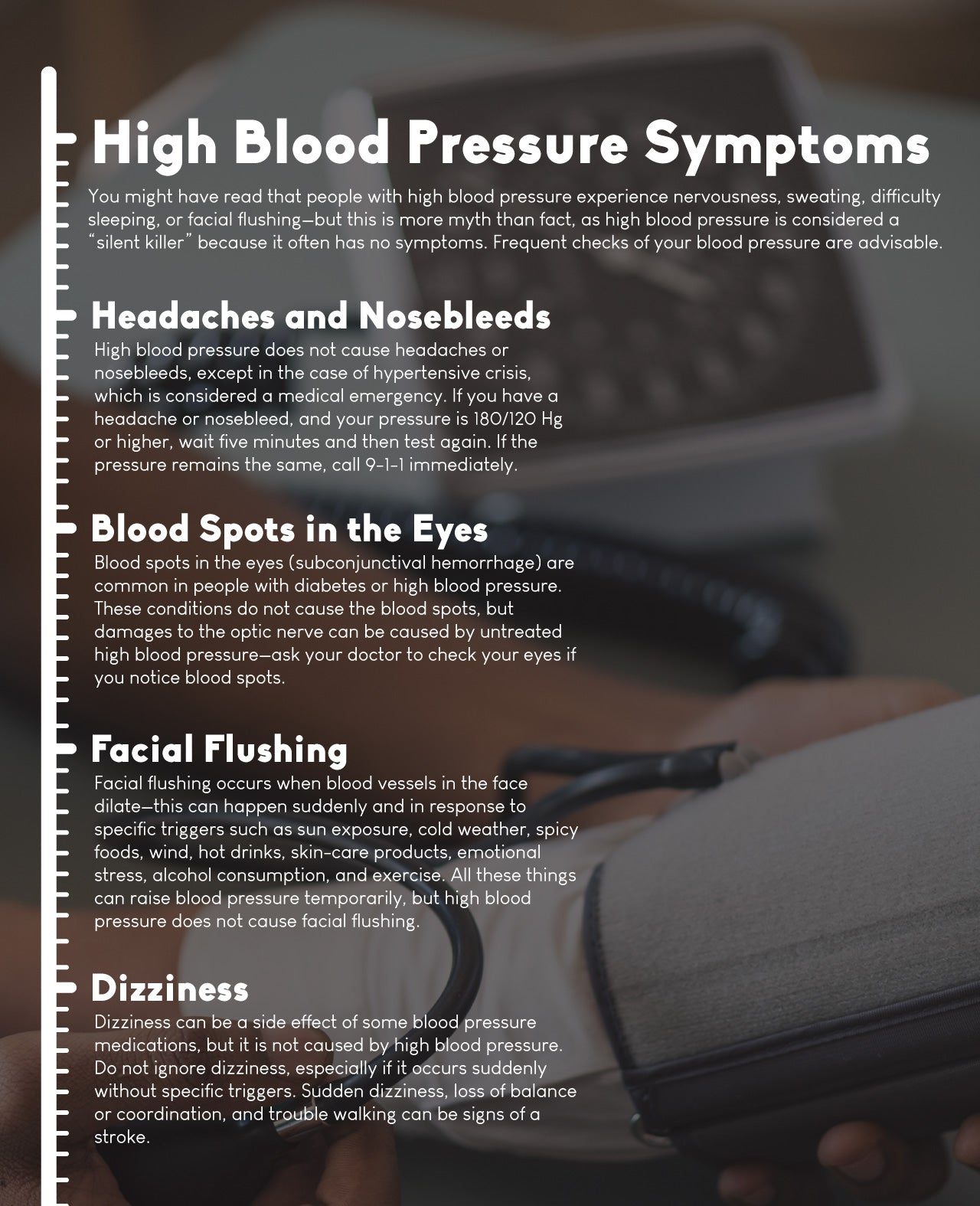 "High blood pressure is considered a ""silent killer"""