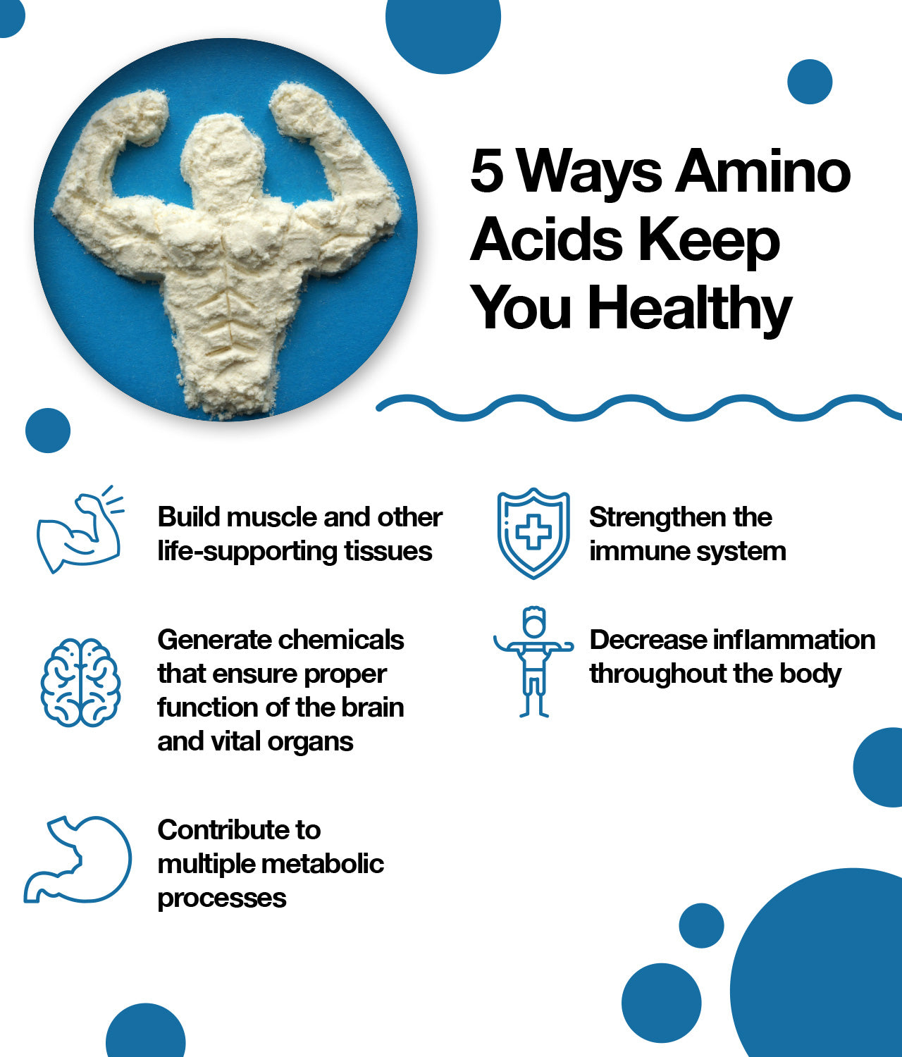 5 ways amino acids keep you healthy