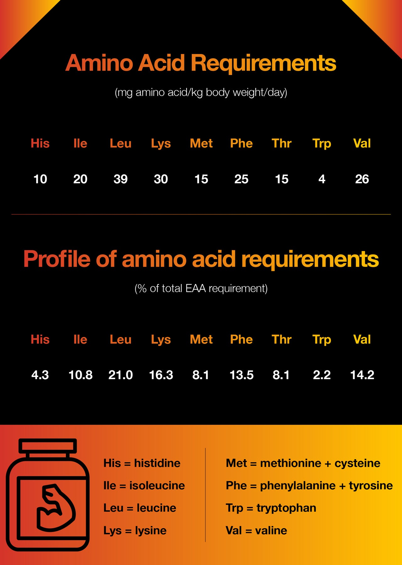Best Amino Acids for muscle growth