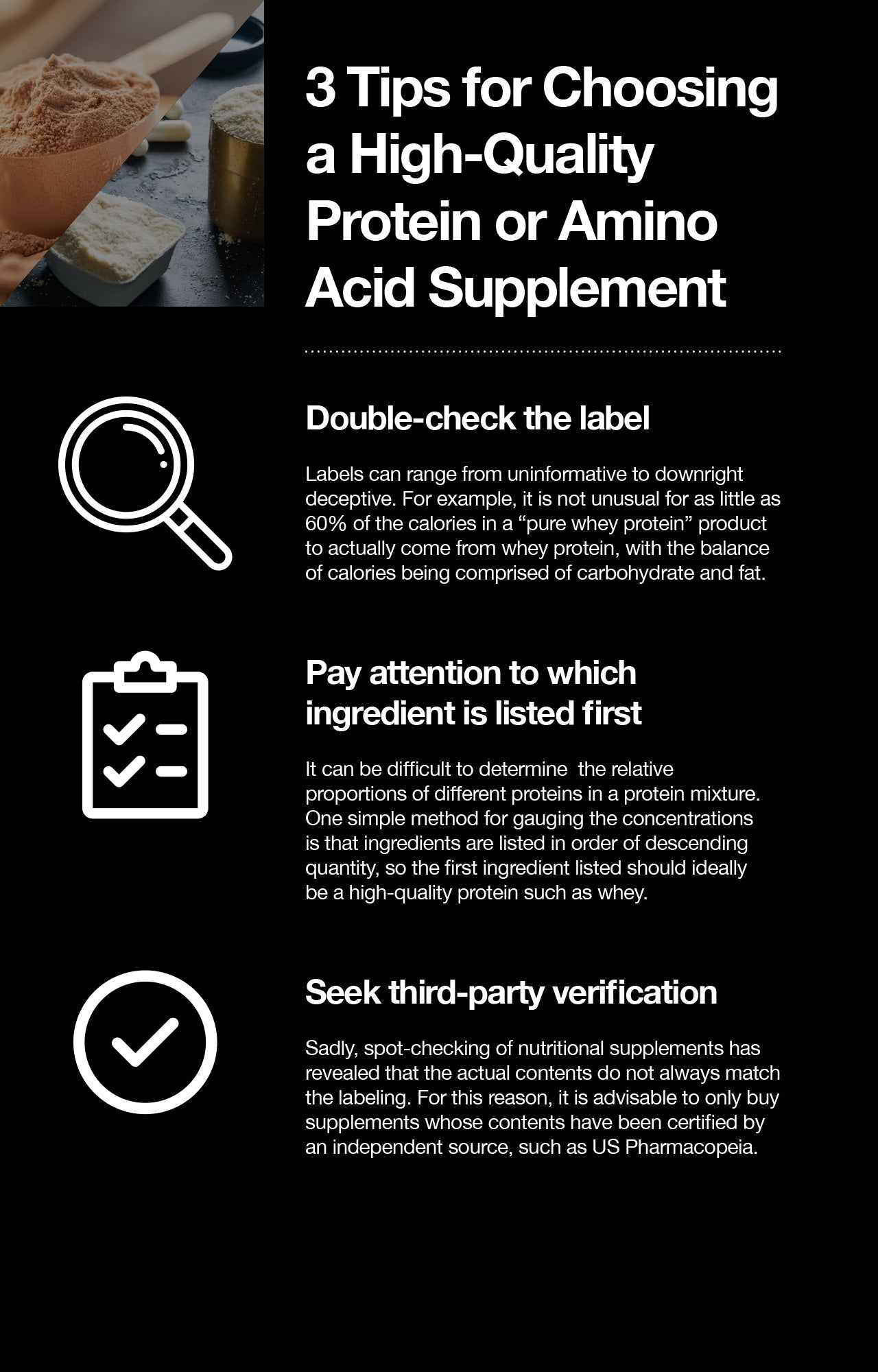 choosing the best amino acid or protein supplement