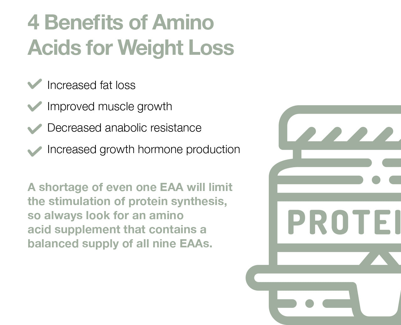 4 Benefits of Amino Acids for Weight Loss