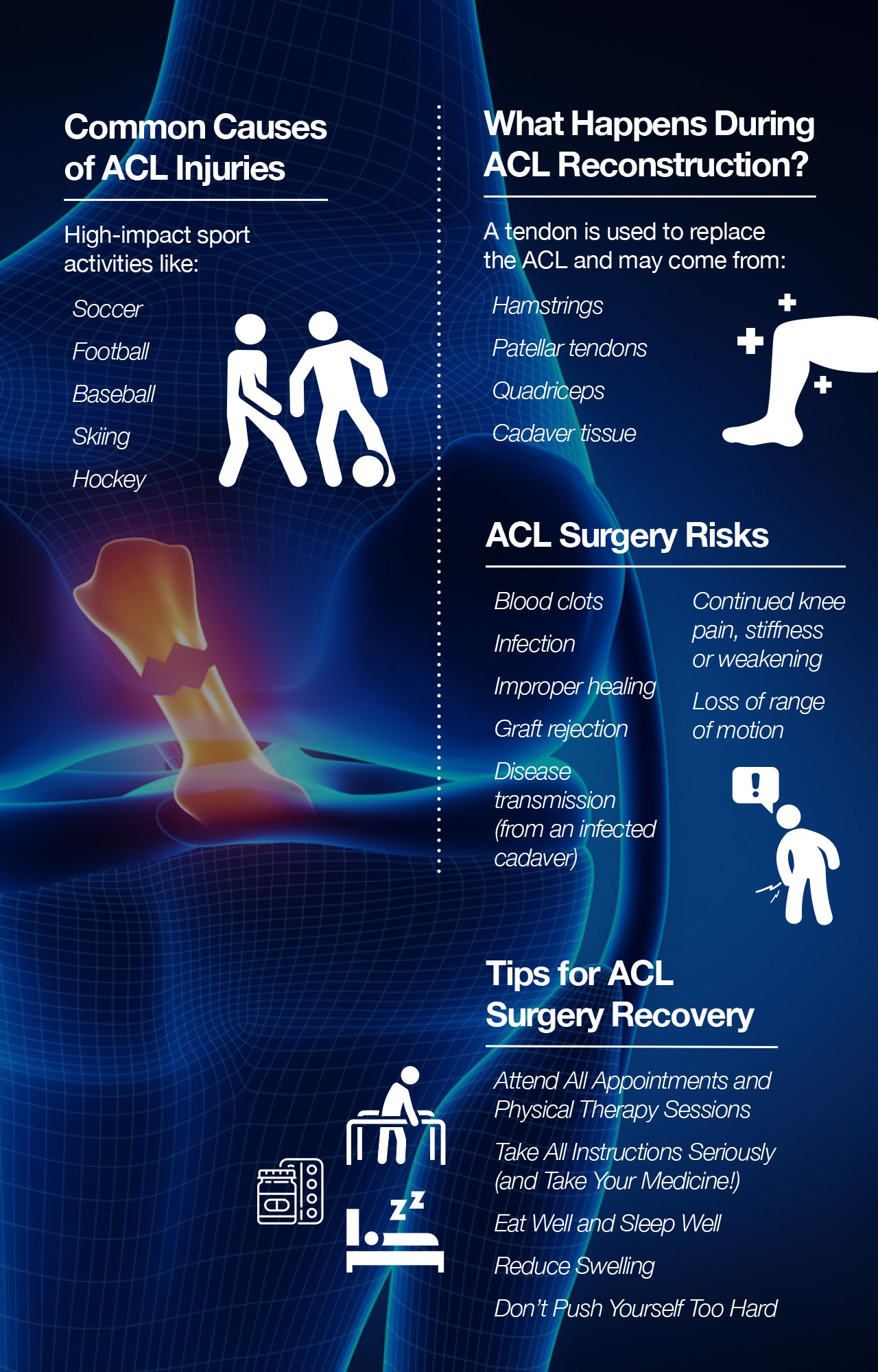 ACL surgery recovery tips to accelerate healing.