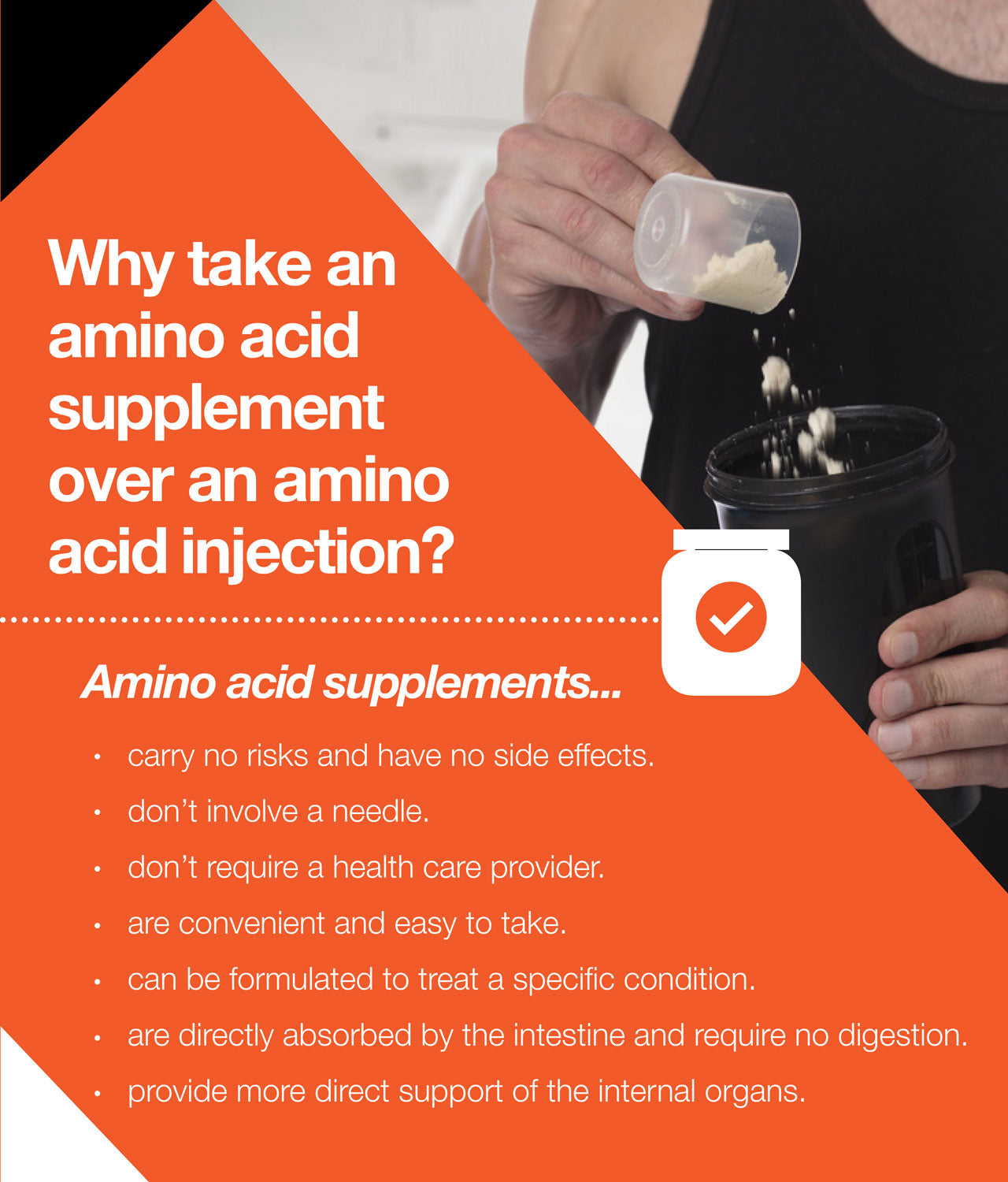 The benefits of taking amino acids orally