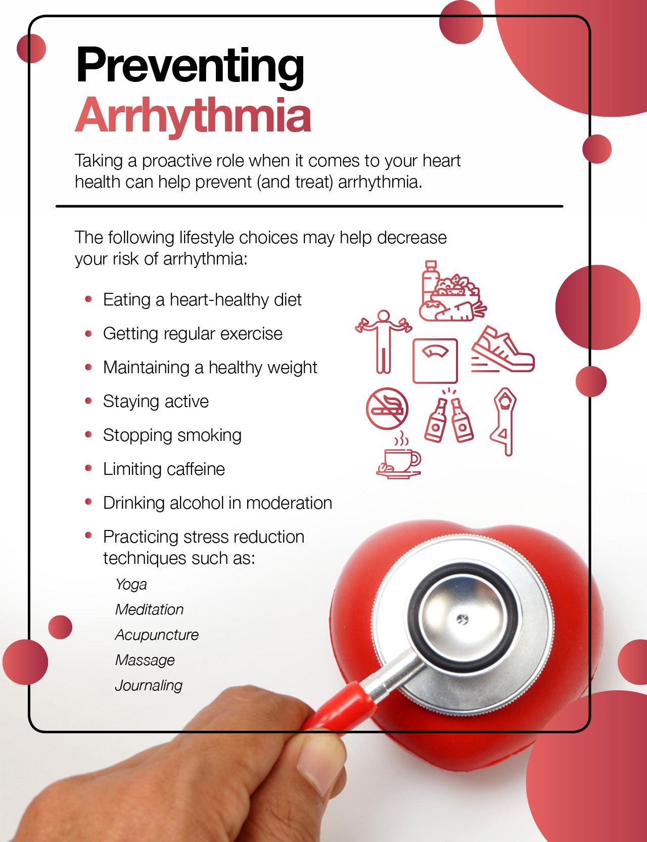 How to prevent arrhythmia