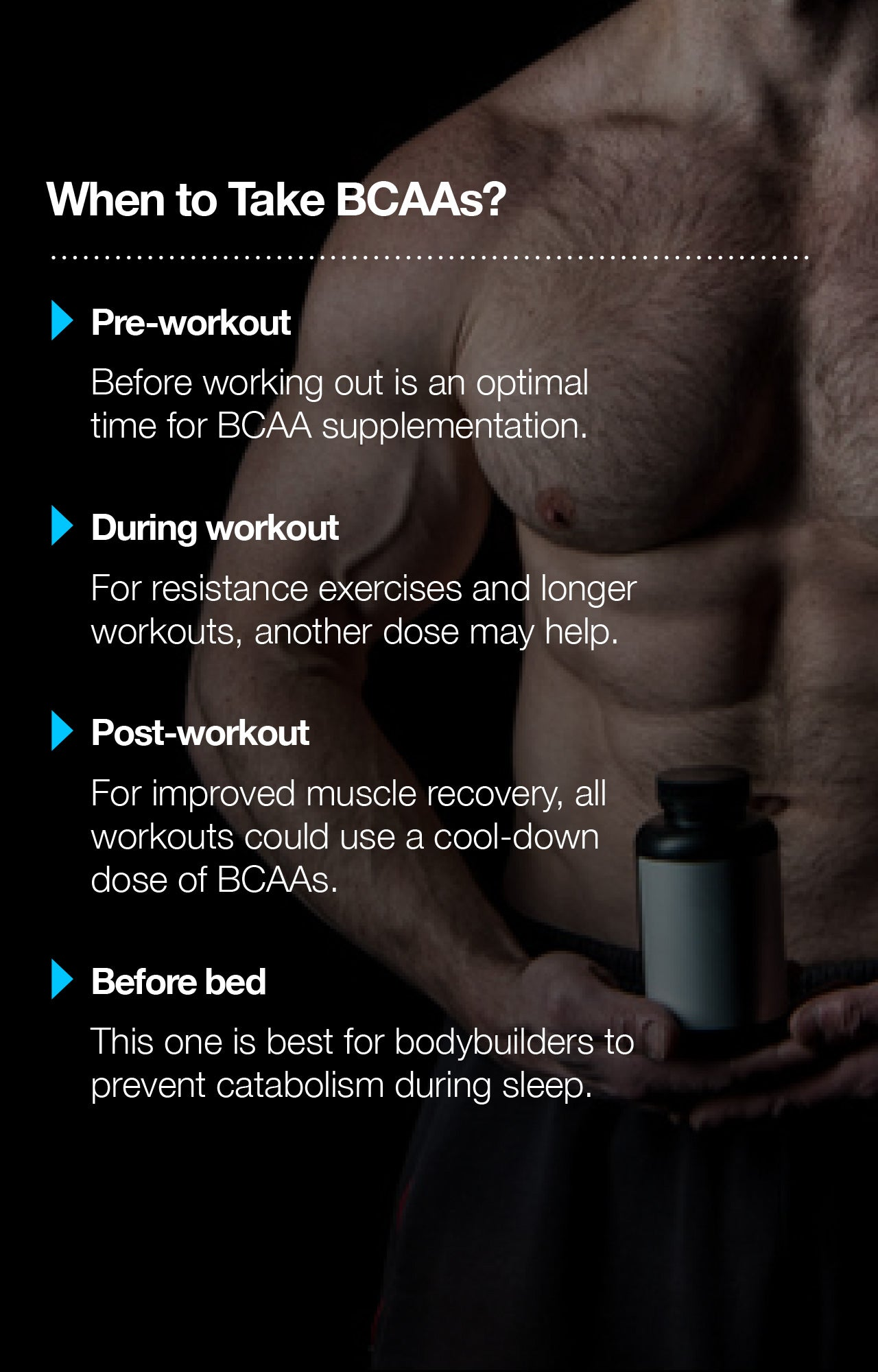 When to take BCAAs for muscle building?