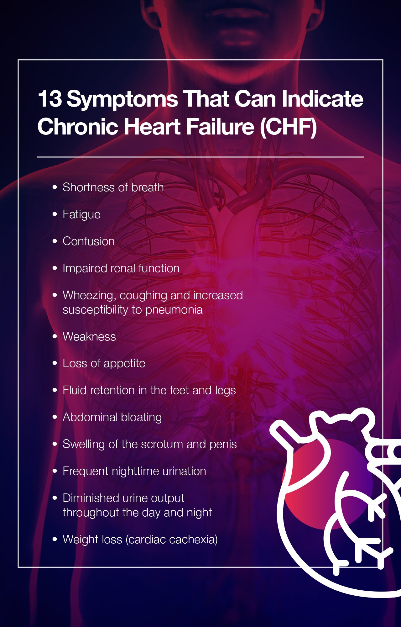 13 Symptoms That Can Indicate Chronic Heart Failure (CHF)