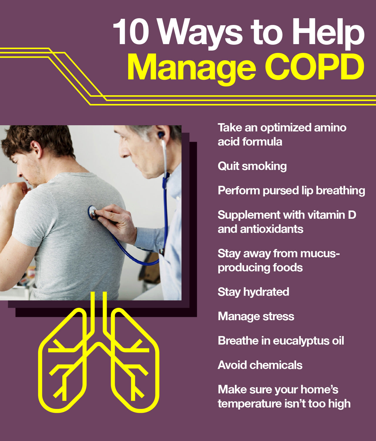 Tips to help manage COPD