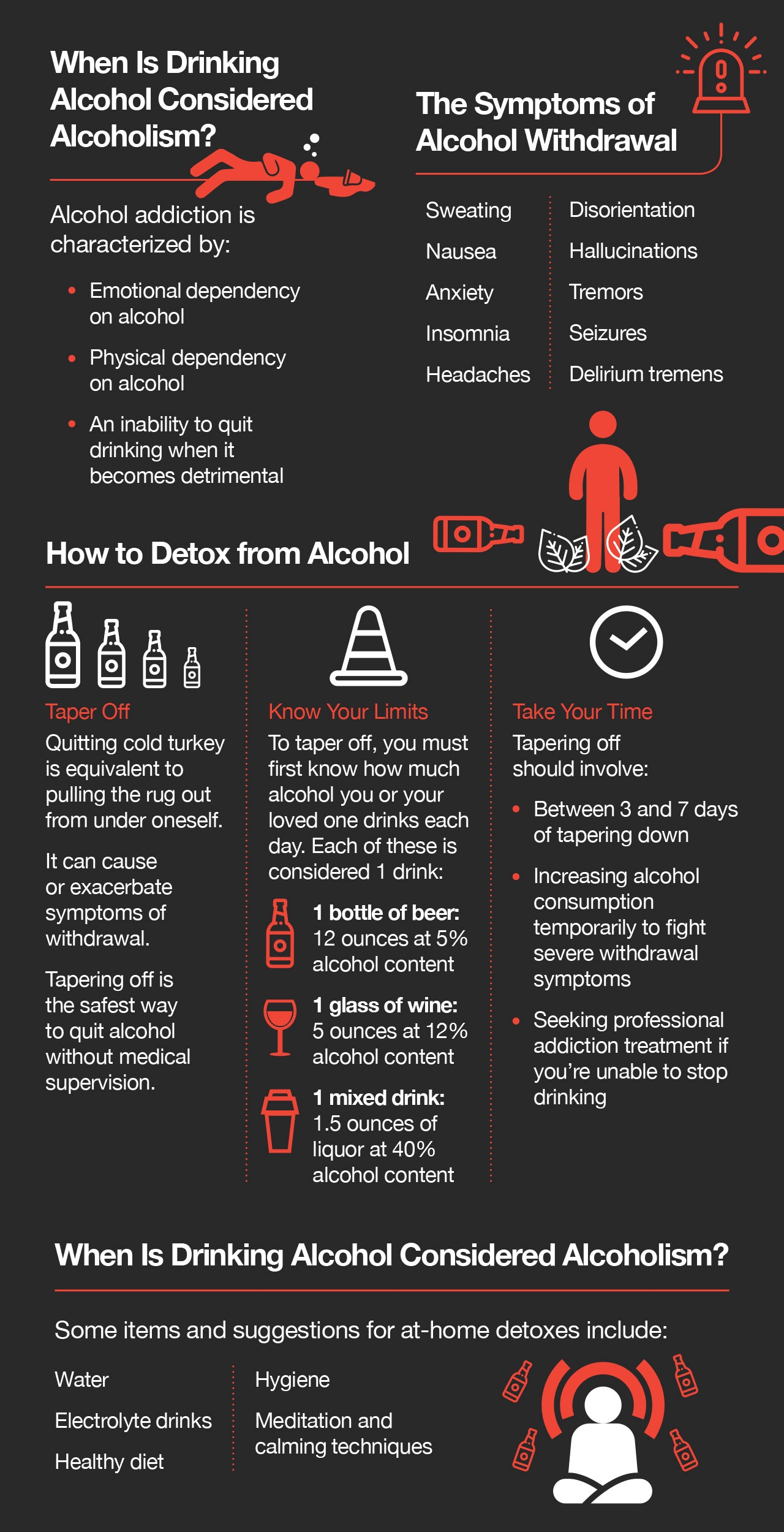 How to detox from alcohol.