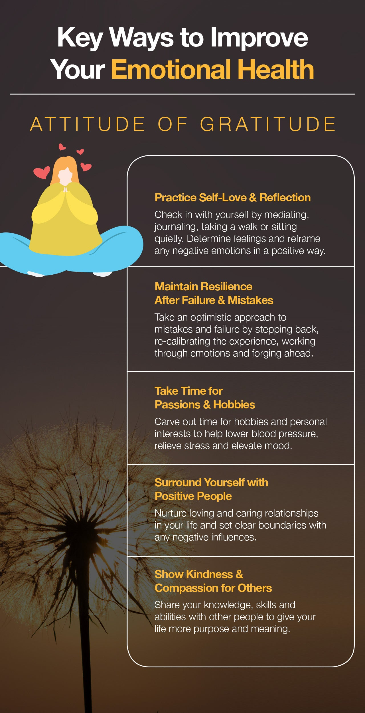 5 ways to improve your emotional health