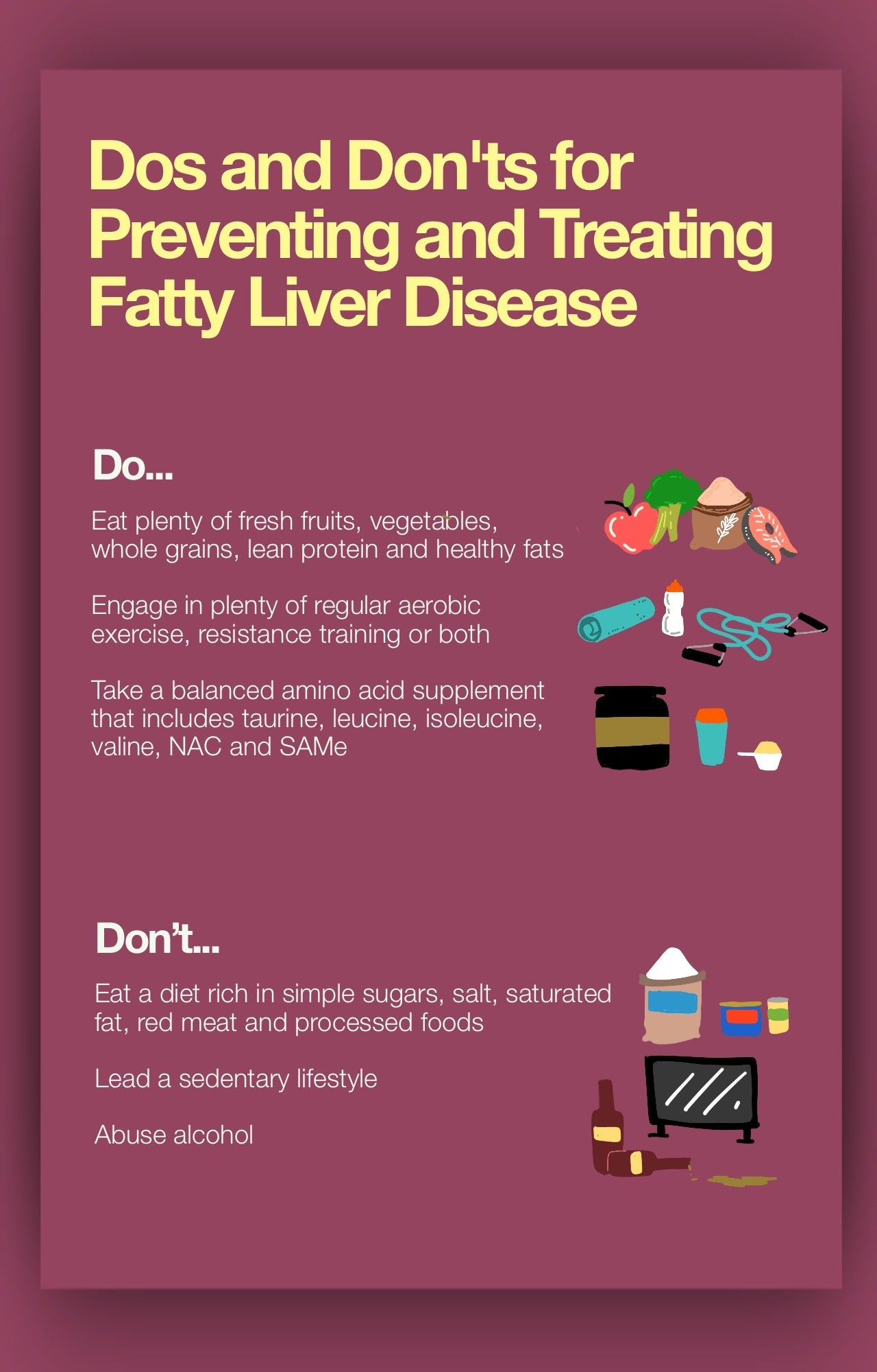 Dos and Don'ts for Preventing and Treating Fatty Liver Disease
