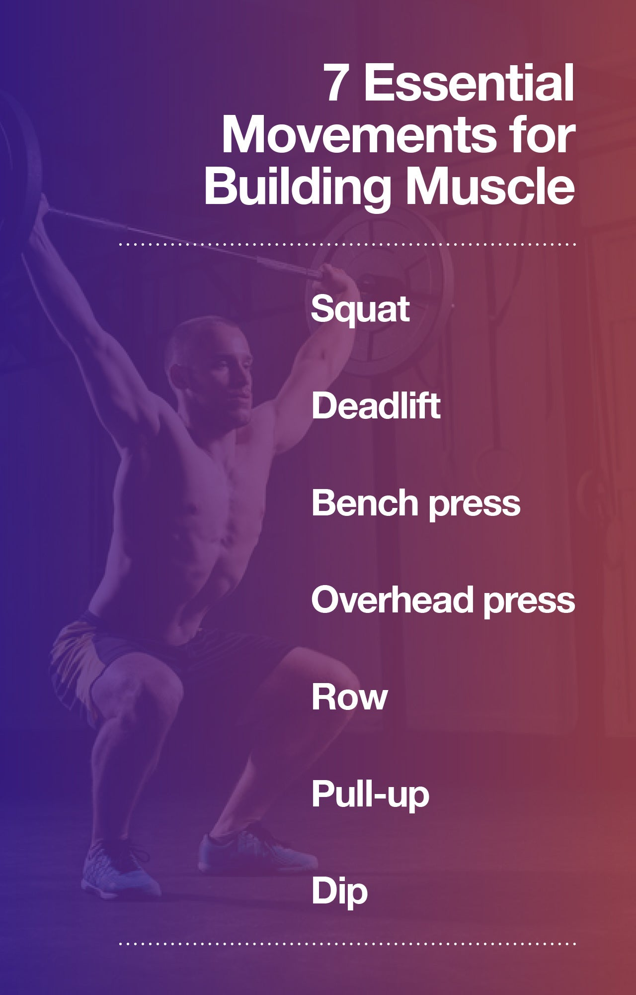 7 movements for building muscle