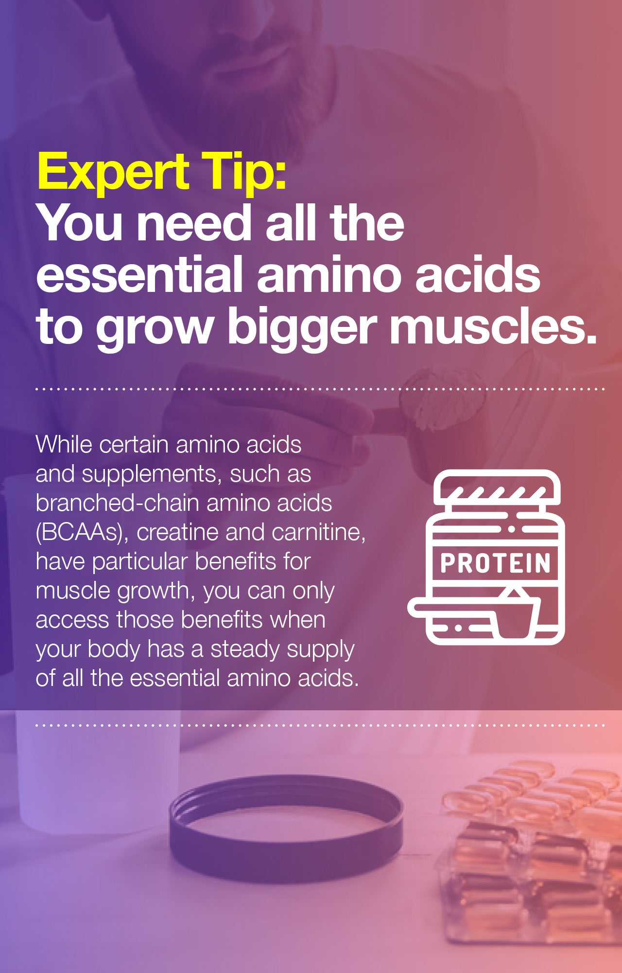 Essential amino acids for bigger muscles