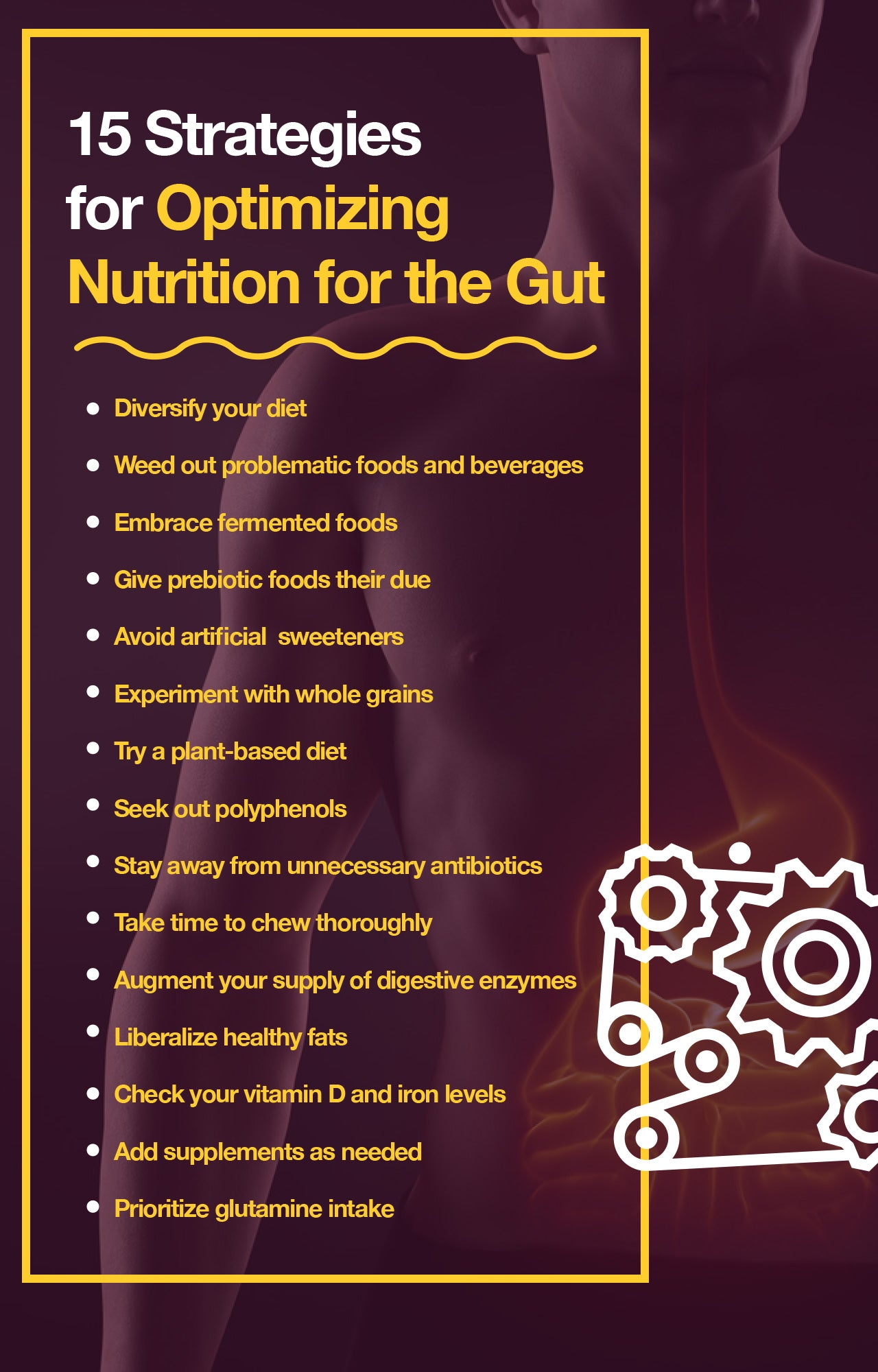15 ways to improve gut health