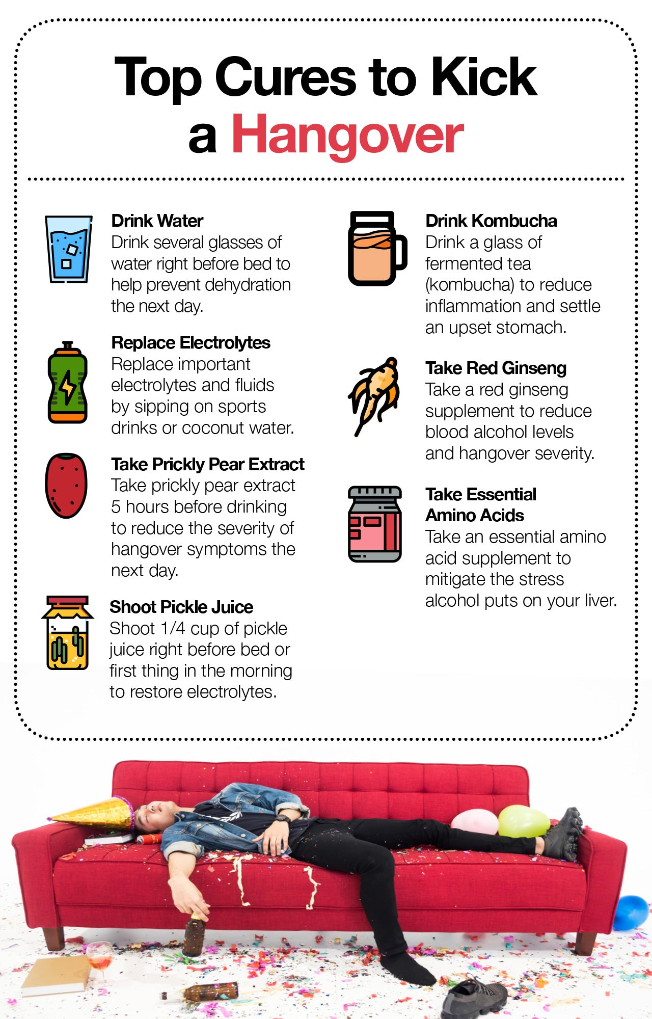 Cures to kick a hangover