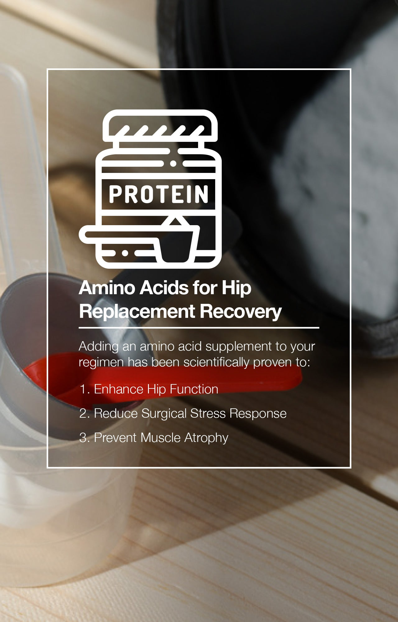Amino Acids for Hip Replacement Recovery