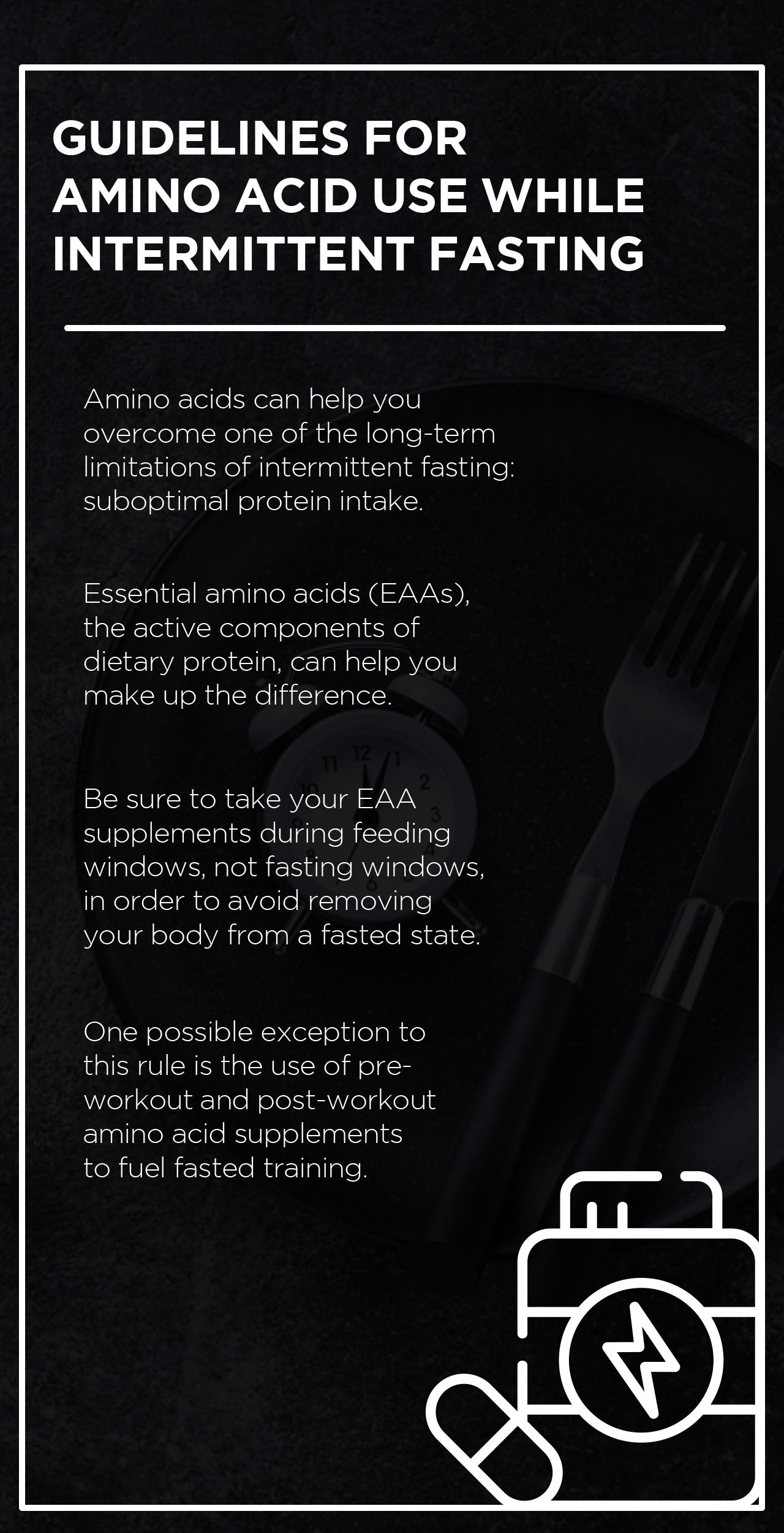 How to use amino acids with intermittent fasting