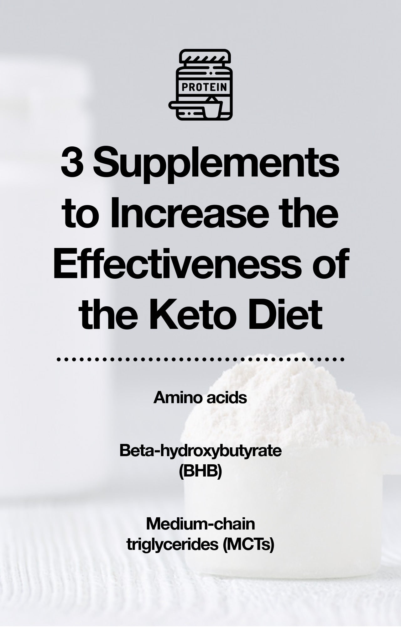Supplements for the keto diet