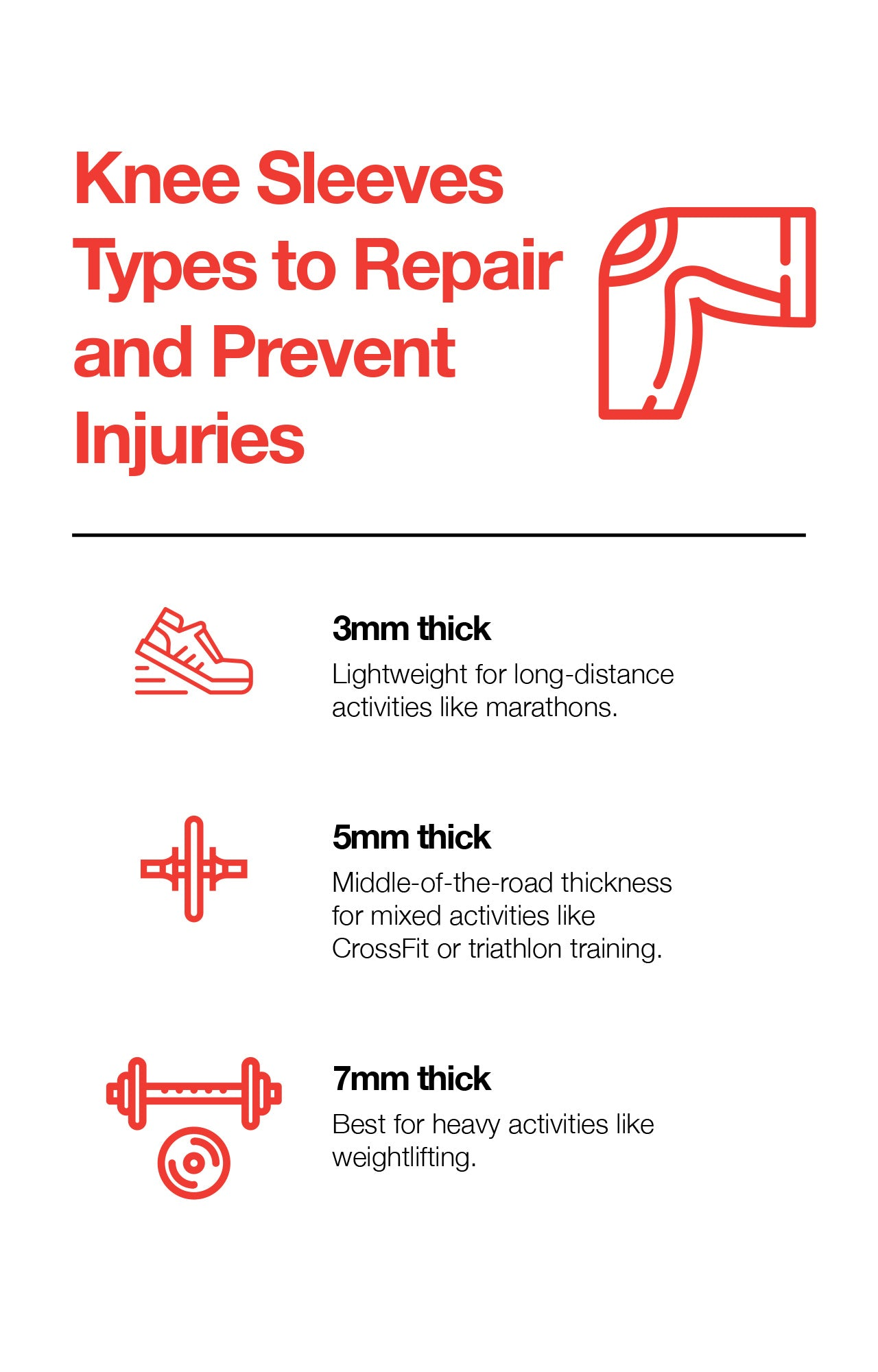 Knee Sleeves Types to Repair and Prevent Injuries