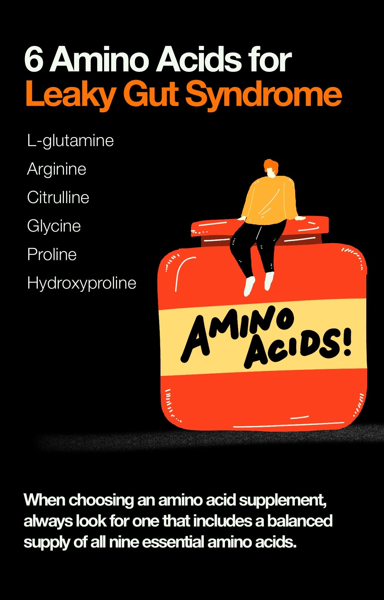 6 Amino Acids for Leaky Gut Syndrome