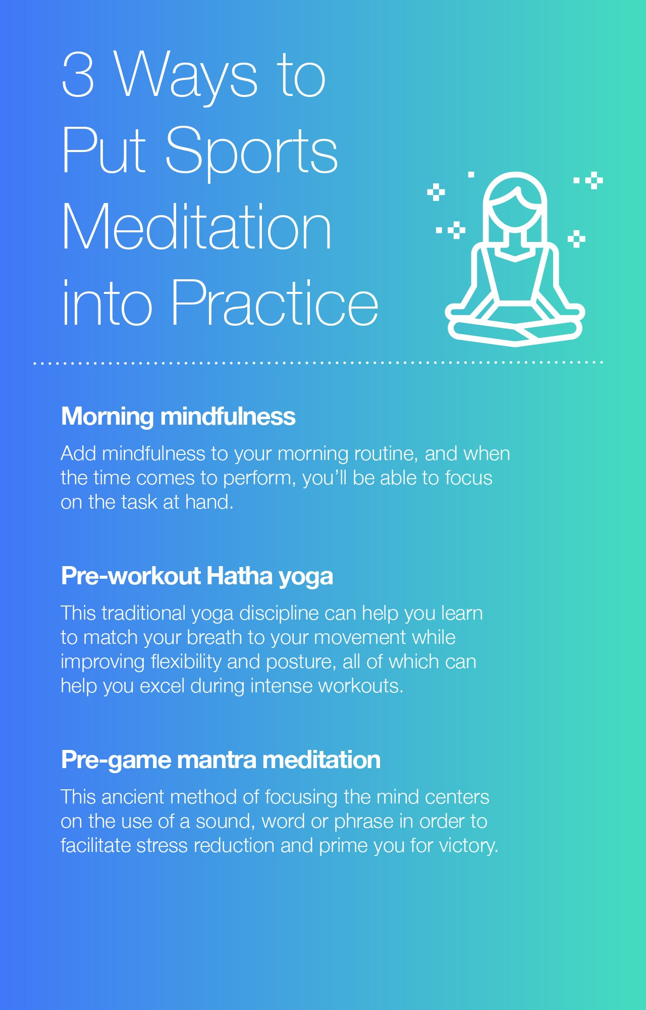 3 Ways to Put Sports Meditation into Practice