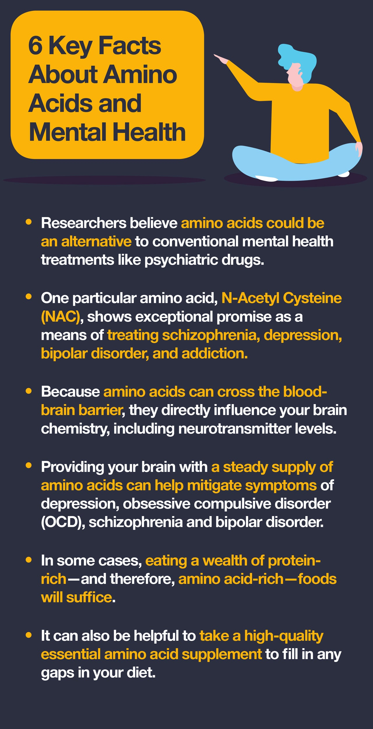 5 Key Facts About Amino Acids and Mental Health