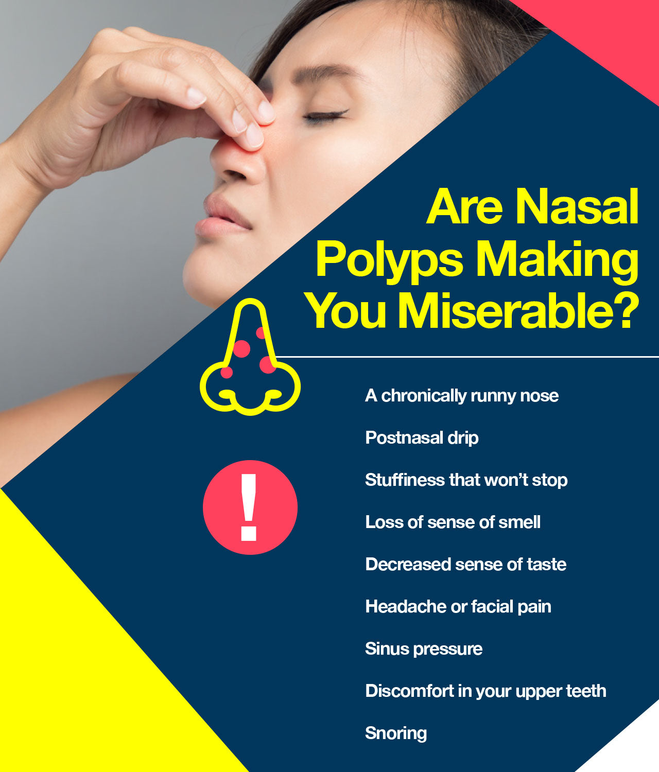 symptoms of nasal polyps